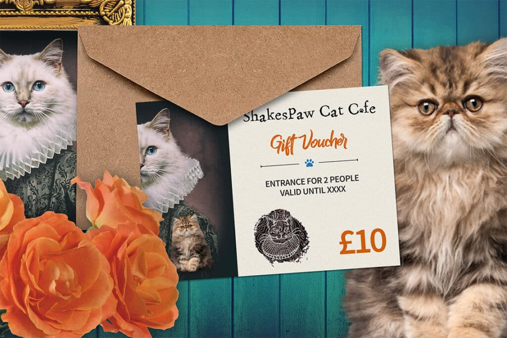 Ten Pounds Shakespaw Cat Cafe Voucher